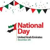 För Förenade Arabemiraten för nationell dag illustration för design för mall vektor royaltyfri illustrationer