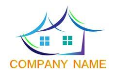 För företagslogo för hus hem- symbol för företag Fotografering för Bildbyråer