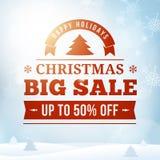 För försäljningsaffisch för jul stor bakgrund Royaltyfri Bild