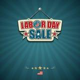 För försäljningsamerikan för arbets- dag tecken Royaltyfri Bild