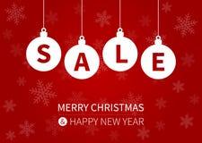 För försäljningsbefordran för glad jul affisch/vykort för skärm Royaltyfria Foton