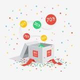 För försäljningsrabatt för specialt erbjudande symbol vektor illustrationer