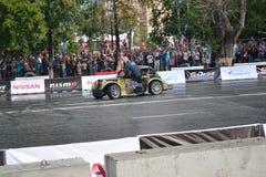 För första gången i Tyumen 18.08.2013 storstilat Nismo G-drev Royaltyfri Bild