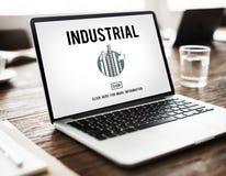 För fabriksstruktur för industriell organisation utveckling Constructi arkivfoto