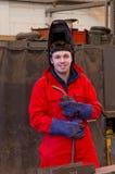 för facklavisor för säkerhet le welder Royaltyfri Foto