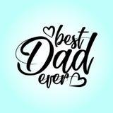 För fader` s för bästa farsa allt lycklig uppsättning för bokstäver för dag stock illustrationer