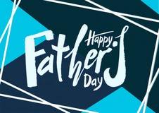 För fader` s för härlig handskriven text lycklig dag på som tillbaka textureras vektor illustrationer