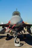 För falkstråle för stridighet F-16 flygplan Royaltyfri Fotografi