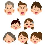 För familjleende för tre utvecklingar symbol vektor illustrationer