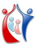 för familjmoder för 11 barn silhouette Royaltyfria Bilder