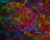 För fantasitapet för abstrakt fractal härlig digital vetenskap för kurva, energistildisko, parti stock illustrationer