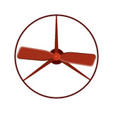 För fanvektor för marin- propeller cirkel för makt för teknologi för rotation för kylare för blåsare för skepp för utrustning för Royaltyfri Foto