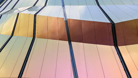 För fasadarkitektur för modern design detaljer royaltyfri bild