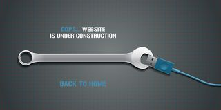 För felsida för mall 404 illustration för vektor Royaltyfri Foto