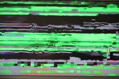 För felskärm för tekniskt fel digitalt tekniskt fel för prov för pixilation för PIXEL att texturera synthvågen för korrumperad ma royaltyfria foton
