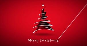 För ferievideo för glad jul animering arkivfilmer