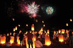 För Festiva för lykta för lyktafestival Mai lChiang arkivfoton