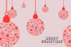 För festivalberömmar för glad jul design för kort för hälsning Royaltyfri Foto