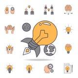 för fildfärg för ljus kula symbol Detaljerad uppsättning av färgidésymboler Högvärdig grafisk design En av samlingssymbolerna för royaltyfri illustrationer