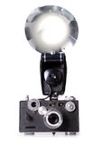 för filmaktivering för kamera klassisk rangefinder för exponering Arkivfoton