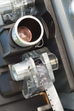 För filmfilm för tappning 8mm projektor Front Carraige Lens Arkivfoto