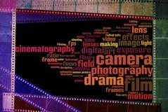 För filmfilm för tappning negativ tappning för vit för svart för remsa royaltyfri bild