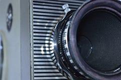 För filmkamera för tappning gammal lins arkivfoton