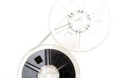 För filmrullar för tappning 8mm bakgrund för vit Royaltyfri Bild