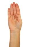 för fingerhand för alfabet b stavning för bokstav Royaltyfria Bilder