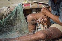 by för fiskemuine Arkivbild