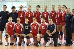 för fivbtekniker s för mästerskap tjeckiska kvinnor för volleyboll Arkivfoton