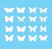 för fjärilsfjärilen för bakgrunder symboler för symbolen för designer för den härliga tecknad film öppnar isolerade färgrika set  Royaltyfria Foton