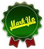 För FLÄCK band för runda UPP grönt royaltyfri illustrationer