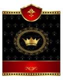 för fläckstolpe för element heraldisk tappning stock illustrationer