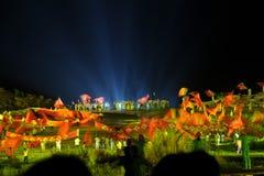 För `-flagga för kapitel 1 ` - den storskaliga Jinggangshan för flodstrandshow` `en, royaltyfri foto