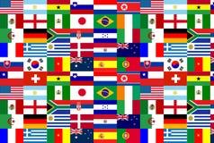 för flaggalag för 2010 kopp värld royaltyfri illustrationer