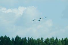 För flankerkämpe för Su 27 grupp för flygplan Royaltyfri Bild