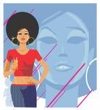 för flickaglamour för bakgrund svart illustration Royaltyfri Fotografi