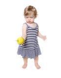 för flickagreen för äpple gullig litet barn Arkivbild