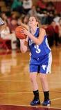för flickaspelare för basket fritt kast royaltyfria foton