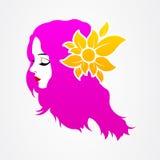 För flickastående för grafisk design kvinna Arkivfoton