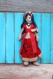 För flickatorkduk för tappning mexicansk docka Royaltyfri Foto