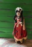 För flickatorkduk för tappning mexicansk docka Arkivfoton
