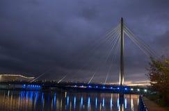 För flotta bro Southport långt Fotografering för Bildbyråer