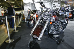 för flstnharley för davidson deluxe softail för motorcykel royaltyfri fotografi