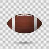 För flygfotboll för vektor realistisk closeup på genomskinlig bakgrund Designmall i EPS10 Arkivbilder