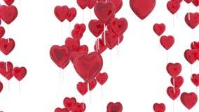 för flyghjärta för ballonger eps8 form för förälskelse dig Romantisk bakgrund för dag för valentin` s framförande 3d vektor illustrationer