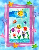 för flygillustration för näbb dekorativ bild dess paper stycksvalavattenfärg royaltyfria bilder