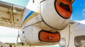 2 för 3 flygplan versionen för ryssen för det berömda krakow för li för flygdc för lisunov museet för modellen den gammala var Royaltyfria Bilder