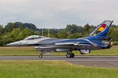 För flygvapenGeneral Dynamics F-16AM för belgisk luft del- belgiskt flygplan för kämpe för falk stridighet Arkivbilder